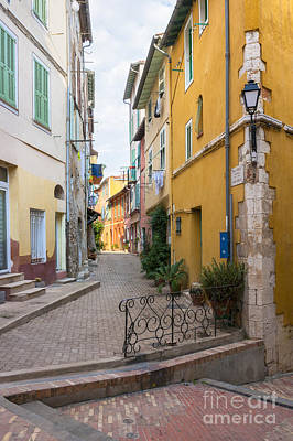 Paint Photograph - Street Intersection In Villefranche-sur-mer by Elena Elisseeva