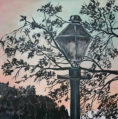 Landscape Painting - Street Lamp Historic Vintage Art Print by Derek Mccrea