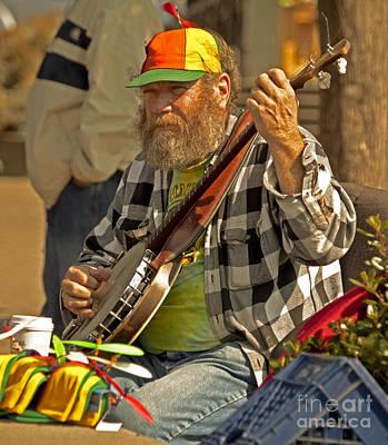 Street Musician With Banjo In San Francisco Original by Mark Hendrickson