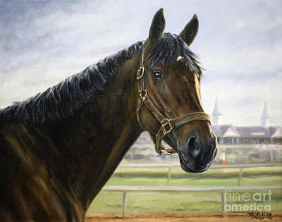 Street Sense At Churchill Downs Print by Thomas Allen Pauly