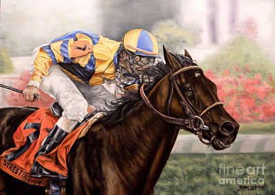Painting - Street Sense - Kentucky Derby 2007 by Thomas Allen Pauly