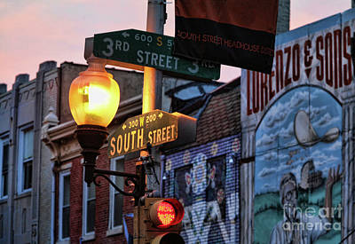 Street Sign South St Print by Chuck Kuhn