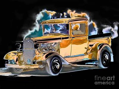 Photograph - Street Truck Hot Rod by Annie Zeno