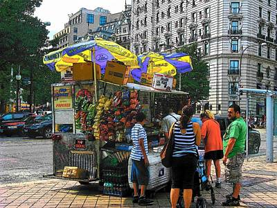Street Vendor Print by Joyce Kimble Smith