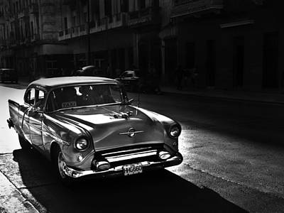 Streets Of Cuba 1 Print by Artecco Fine Art Photography