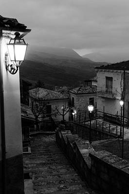Winter Photograph - Streets Of Italy - Caramanico 2 by Andrea Mazzocchetti