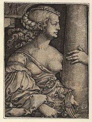 Heinrich Aldegrever Drawing - Strength by Heinrich Aldegrever