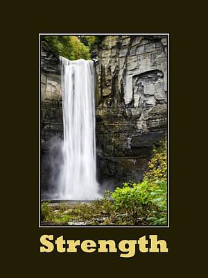 Digital Art - Strength Inspirational Poster by Christina Rollo