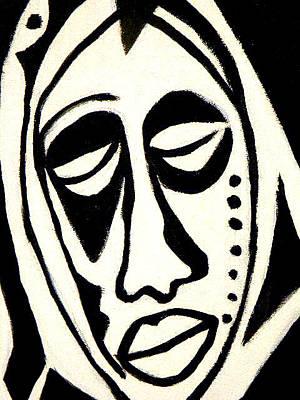 Nappy Head Art Painting - Strength by Robert Daniels