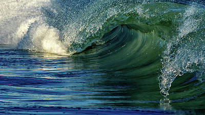 Surfing Photograph - Strength by Stelios Kleanthous