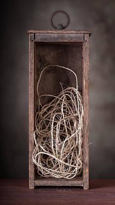 Hemp Photograph - String Box Still Life by Tom Mc Nemar