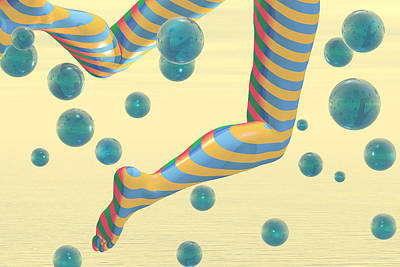 Striped Stockings Print by Carol and Mike Werner