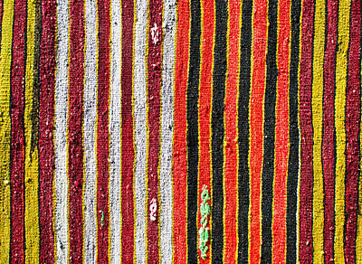 Hand Made Photograph - Striped Textile by Tom Gowanlock
