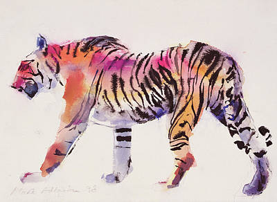 Cats Drawing - Stripey by Mark Adlington