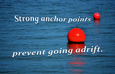 Lake Photograph - Strong Anchor Points by Erich Grant