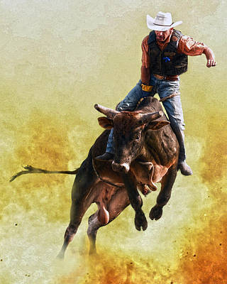 Bull Riders Photograph - Strong Heart by Ron  McGinnis