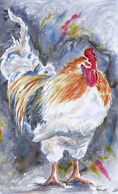 Cocks Painting - Struttin His Stuff by Marsha Elliott