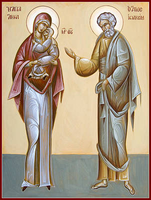 Sts Joachim And Anna Print by Julia Bridget Hayes