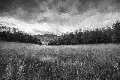 Stuck In The Field Iv Print by Jon Glaser