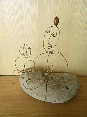 Sculpture - Student And Teacher by Live Wire Spirit