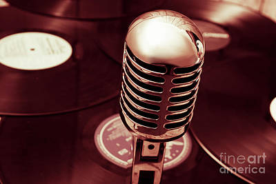 Microphone Photograph - Studio Of Old by Jorgo Photography - Wall Art Gallery