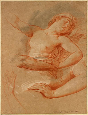 Drawing - Study For Boreas Abducting Oreithyia by Francois-Andre Vincent