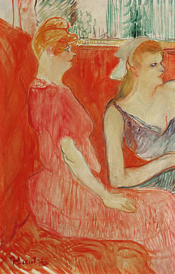 Prostitutes Painting - Study For In The Salon On The Rue Des Moulins by Henri de Toulouse-Lautrec