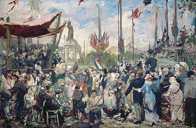 1880 Painting - Study For Le 14 Juillet 1880 by Alfred Roll