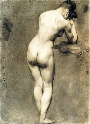 Eugene Delacroix Drawing - Study For Mademoiselle Rose by Eugene Delacroix