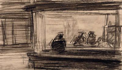 Study For Nighthawks Print by Edward Hopper