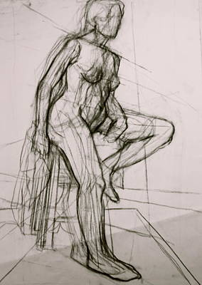 Nude Painting - Study In Planes by Dan Earle