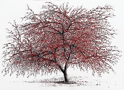 Study Of A Choke Cherry Tree Print by Glenn Boyles