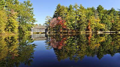Sturbridge Massachusetts Fall Foliage Print by Luke Moore