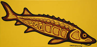 Lake Superior Art Gallery Painting - Sturgeion by Christopher Fox