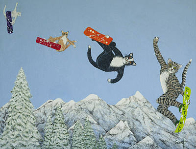 Snowboarder Painting - Style And Ability by Pat Scott
