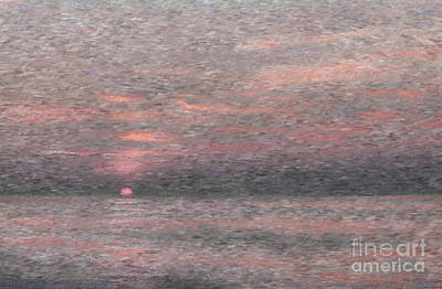 Seascape Photograph - Subdued Sunset by Jeff Breiman