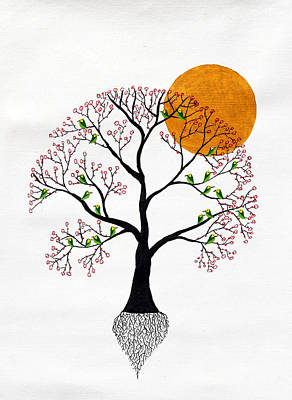 Tree Roots Painting - Subhavari by Sumit Mehndiratta