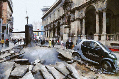 Police Painting - Submarine Accident by Leonardo Digenio
