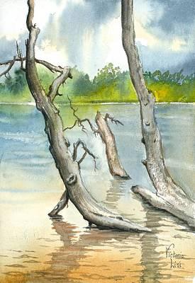 Submerged Cottonwood Original by Victoria Lisi