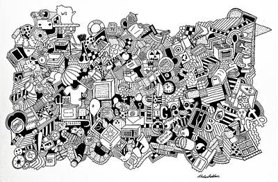 Different Stuff Drawing - Substance by Chelsea Geldean