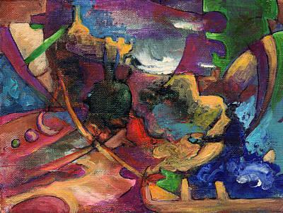Minotaur Painting - Subterfuge by David Matthews
