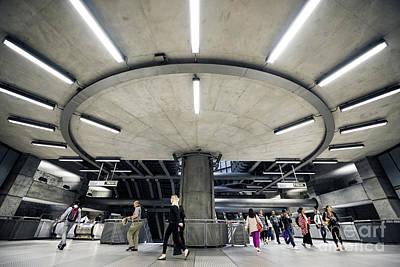 London Tube Mixed Media - Subway Circle Crossing by Svetlana Sewell