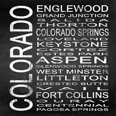 Chalkboard Digital Art - Subway Colorado State 2 Square by Melissa Smith