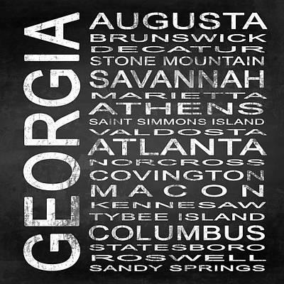 Augusta Digital Art - Subway Georgia State Square by Melissa Smith