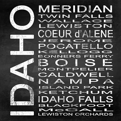 Subway Idaho State Square Print by Melissa Smith