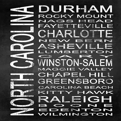 Greensboro Digital Art - Subway North Carolina State Square by Melissa Smith