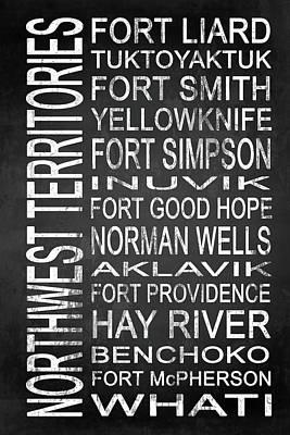 Yellowknife Digital Art - Subway Northwest Territories Canada 1 by Melissa Smith