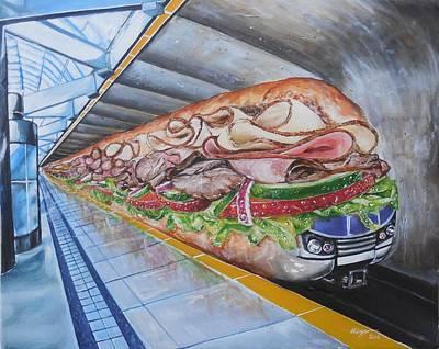 Subway Train Original by Valdengrave Okumu