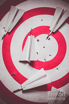Aiming Photograph - Success And Failures. Business Target by Jorgo Photography - Wall Art Gallery