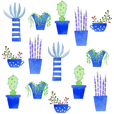 Succulents Print by Nic Squirrell